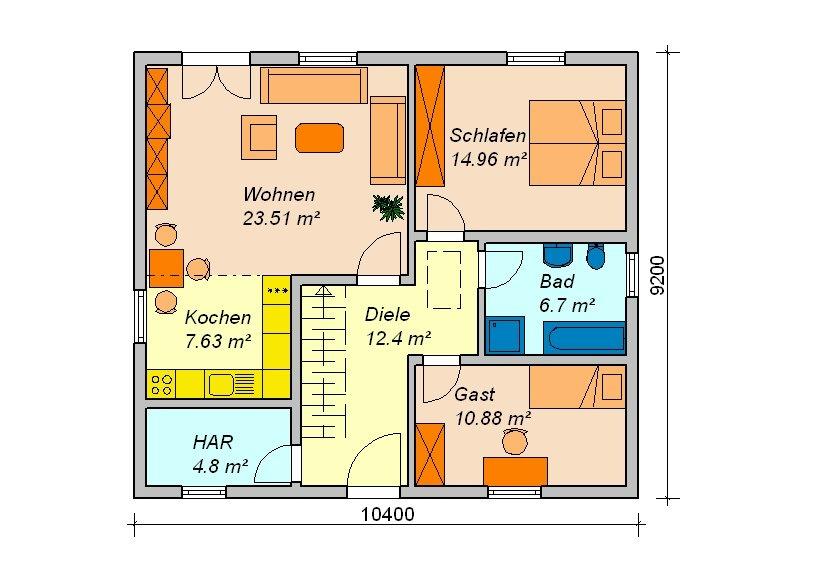 170qm grundriss ihr traumhaus ideen for Grundriss traumhaus
